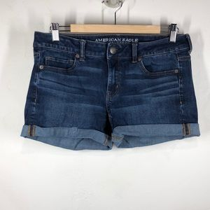 American Eagle Midi jeans shorts size 8